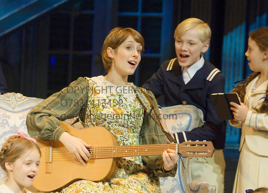 The Sound of Music by Rogers and Hammerstein , choreographed by Arlene Phillips ,directed by Jeremy Sams. With Connie Fisher as Maria with the children. Opens at the London Palladium   on 15/11/06 .   CREDIT Geraint Lewis