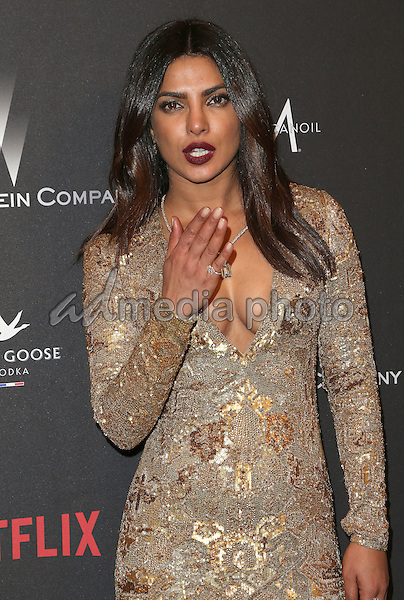 08 January 2016 - Beverly Hills, California - Priyanka Chopra. 2017 Weinstein Company And Netflix Golden Globes After Party held at the Beverly Hilton. Photo Credit: F. Sadou/AdMedia
