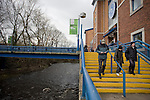 Supporters making their way down the stairs from the main stand before Sheffield Wednesday take on Peterborough United in a Coca-Cola Championship match at Hillsborough Stadium, Sheffield. The home side won by 2 goals to 1 giving Alan Irvine his third straight win since taking over as Wednesday's manager.