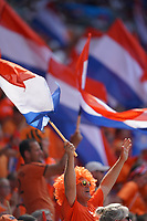 DECINES-CHARPIEU, FRANCE - JULY 07: Dutch Fans prior to the 2019 FIFA Women's World Cup France Final match between Netherlands and the United States at Groupama Stadium on July 07, 2019 in Decines-Charpieu, France.
