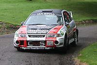 Fraser Wilson / Steven Broll near Junction 10 on the Gleaner Oil & Gas Cooper Park Special Stage 1 of the Gleaner Oil & Gas Speyside Stages Rally 2012, Round 6 of the RAC MSA Scotish Rally Championship which was organised by The 63 Car Club (Elgin) Ltd and based in Elgin on 4.8.12..........