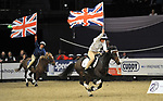 Pony club mounted games. Prince Philip cup. round 1. Horse of the year show (HOYS). National Exhibition Centre (NEC). Birmingham. UK. 04/10/2018. ~ MANDATORY CREDIT Garry Bowden/SIPPA - NO UNAUTHORISED USE - +44 7837 394578