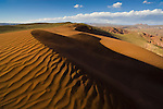 Bolivia, Altiplano, high desert with sand dunes and badlands west of Tupiza