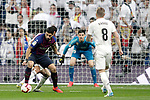 Real Madrid CF's Thibaut Courtois, Toni Kroos and FC Barcelona's Luis Suarez during La Liga match. March 02,2019. (ALTERPHOTOS/Alconada)