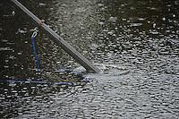FIERLJEPPEN: BURGUM: Accommodatie 'De Jint', Ljeppersklup Burgum, 11-07-2012, 1e Klas wedstrijd, Afgelast vanwege de regen, ©foto Martin de Jong