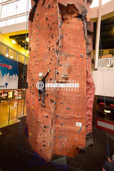 Indoor climbing wall, UK