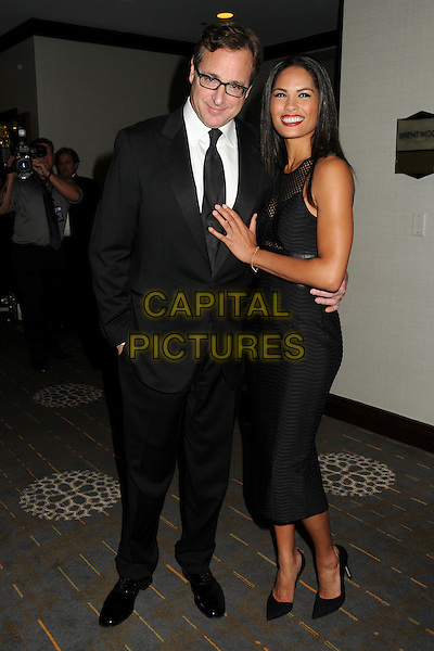 14 February 2015 - Century City, California - Bob Saget, Christin Kalaskie. 2015 Writers Guild Awards West Coast - Press Room held at the Hyatt Regency Century Plaza Hotel. <br /> CAP/ADM/BP<br /> &copy;BP/ADM/Capital Pictures