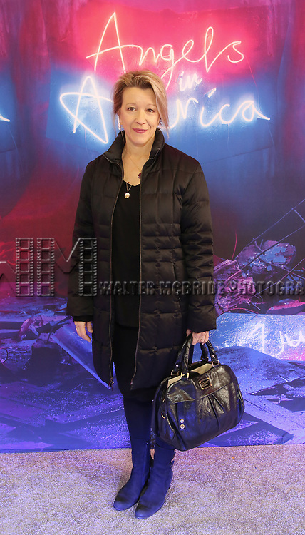 """Linda Emond attends the Broadway Opening Night Arrivals for """"Angels In America"""" - Part One and Part Two at the Neil Simon Theatre on March 25, 2018 in New York City."""