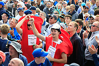 Fans during the sunday singles at the Ryder Cup, Le Golf National, Paris, France. 30/09/2018.<br /> Picture Phil Inglis / Golffile.ie<br /> <br /> All photo usage must carry mandatory copyright credit (&copy; Golffile | Phil Inglis)