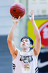 Fong Man Chung #18 of Eagle Basketball Team concentrates prior to a free throw during the Hong Kong Basketball League game between Eagle and Nam Ching at Southorn Stadium on June 22, 2018 in Hong Kong. Photo by Yu Chun Christopher Wong / Power Sport Images