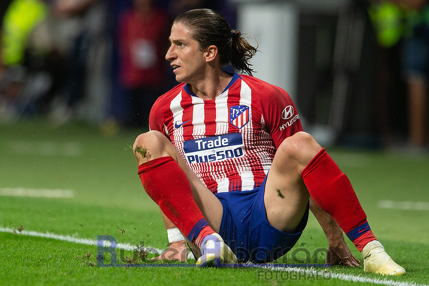 Filipe Luis of Atletico Madrid during the match between Atletico Madrid v SD Huesca of LaLiga, 2018-2019 season, date 6. Wanda Metropolitano Stadium. Madrid, Spain - 25 September 2018. Mandatory credit: Ana Marcos / PRESSINPHOTO