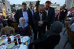 Palestinian Prime Minister Mohammad Ishtayeh attends Ramadan break fast in an iftar celebration in the West Bank city of Hebron, May 30, 2019 Photo by Prime Minister Office