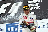ATENCAO EDITOR IMAGEM EMBARGADA PARA VEICULOS INTERNACIONAL - SUZUKA, JAPAO, 07 OUTUBRO 2012 - F1 GP DO JAPAO - O piloto japones Kamui Kobayashi da Sauber, conquista a vitoria nesta domingo, 07, no Grande Premio do Japão de Fórmula 1, em Suzuka. (FOTO: PIXATHLON / BRAZIL PHOTO PRESS).