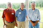 WATERBURY, CT-071517JS04--Ken Merz; Gregory Oneglia and Gene McKeon at the Third Annual O&G Industries Retiree Picnic held Saturday at La Bella Vista in Waterbury.  Jim Shannon Republican-American