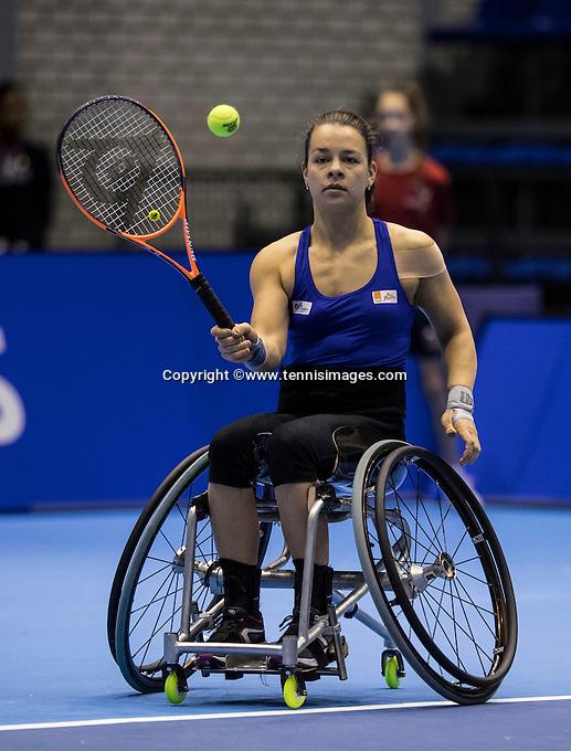 Rotterdam, Netherlands, December 14, 2016, Topsportcentrum, Lotto NK Tennis,  Wheelchair, Marjolijn Buis (NED) <br /> Photo: Tennisimages/Henk Koster