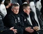 Ole Gunnar Solskjaer manager of Manchester United takes his eat in the dugout during the FA Cup match at the Pride Park Stadium, Derby. Picture date: 5th March 2020. Picture credit should read: Darren Staples/Sportimage
