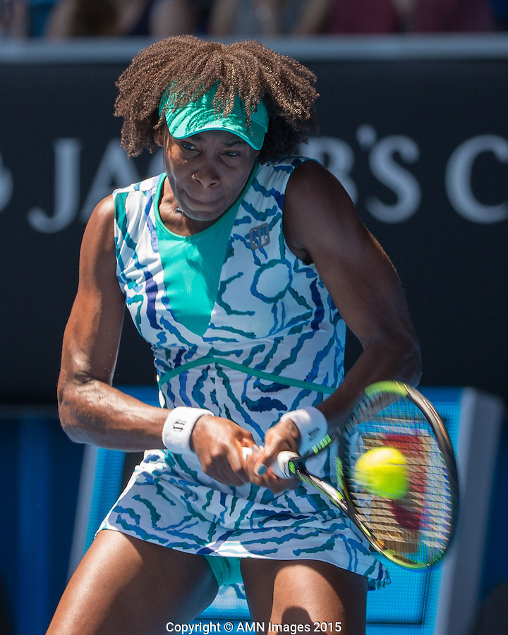 Venus Williams (USA)<br /> <br /> Tennis - Australian Open 2015 - Grand Slam -  Melbourne Park - Melbourne - Victoria - Australia  - 22 January 2015. <br /> &copy; AMN IMAGES