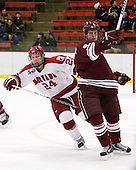 Luke Greiner (Harvard - 24), Wade Poplawski (Colgate - 6) - The Harvard University Crimson defeated the visiting Colgate University Raiders 6-2 (2 EN) on Friday, January 28, 2011, at Bright Hockey Center in Cambridge, Massachusetts.