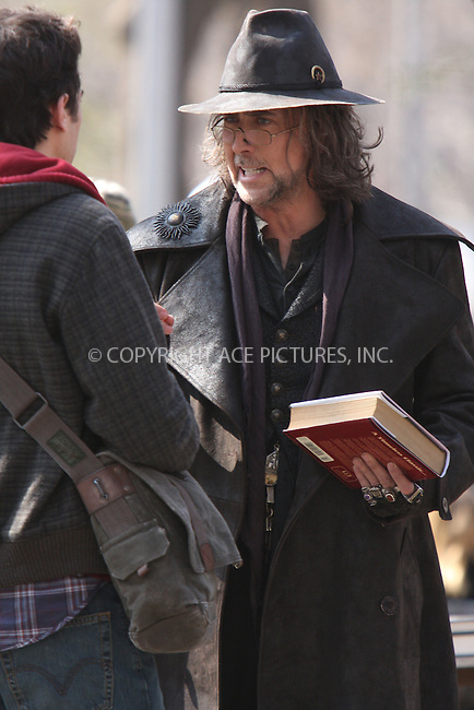 WWW.ACEPIXS.COM..April 02 2009, New York City..Actor Nicholas Cage films on the set of the 2010 movie, 'The Sorcerer's Apprentice' on April 2, 2009 in New York City...Please byline: AJ Sokalner - ACEPIXS.COM...*** ***...Ace Pictures, Inc.tel: (212) 243 8787.e-mail: info@acepixs.com.web: http://www.acepixs.com..Copyright © 2009 AJ Sokalner/ACE Pictures.