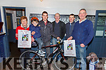 Bikes on the ready for the John O'Shea Memorial Cycle to be held on the 22nd March starting from the Dromid Community Centre at 11am, pictured here l-r; Joan O'Shea, James O'Shea, Eoin Ryan, John Keating(Group 135), Michael O'Sullivan & Mike O'Shea.  All money raised from the event will go to the Irish Pilgrimage Trust Group 135.