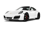 Stock pictures of low aggressive front three quarter view of a 2017 Porsche 911 Carrera S 2 Door Coupe