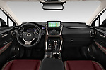 Stock photo of straight dashboard view of 2020 Lexus NX 300h 5 Door SUV Dashboard