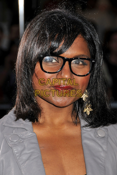 "MINDY KALING.""Bruno"" Los Angeles Premiere held at Grauman's Chinese Theatre, Hollywood, CA, USA..June 25th, 2009.headshot portrait grey gray glasses gold earrings .CAP/ADM/BP.©Byron Purvis/AdMedia/Capital Pictures."