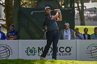 Jon Rahm (ESP) watches his tee shot on 7 during round 1 of the World Golf Championships, Mexico, Club De Golf Chapultepec, Mexico City, Mexico. 2/21/2019.<br /> Picture: Golffile | Ken Murray<br /> <br /> <br /> All photo usage must carry mandatory copyright credit (© Golffile | Ken Murray)