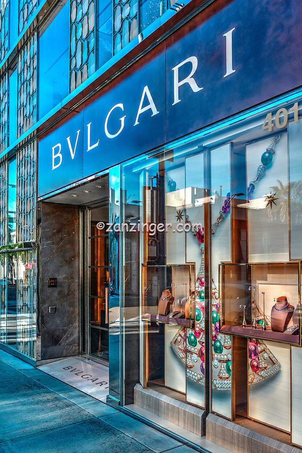 BVLGARI  Rodeo Drive, Luxury Shopping, Quality, Boutique, American luxury specialty department stores, fashion and designer merchandise, Beverly Hills, Los Angeles CA,