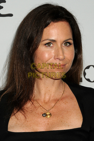 "MINNIE DRIVER .Oxfam America and Esquire House LA Host ""The Oxfam Party"" held at Esquire House LA, Los Angeles, California, USA, .18th November 2010..portrait headshot necklaces H initial gold black .CAP/ADM/BP.©Byron Purvis/AdMedia/Capital Pictures."