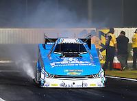 Feb 12, 2016; Pomona, CA, USA; NHRA funny car driver John Force during qualifying for the Winternationals at Auto Club Raceway at Pomona. Mandatory Credit: Mark J. Rebilas-USA TODAY Sports