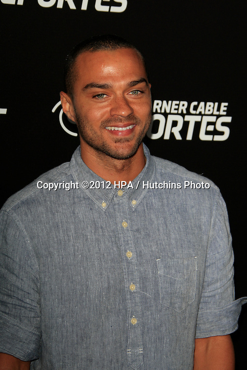 LOS ANGELES - OCT 30:  Jesse Williams arrives at the Time Warner Sports Launch of TWC Sportsnet at TWC Sports Studios on October 30, 2012 in El Segundo, CA
