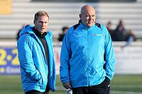 Maidstone United Manager, Harry Wheeler (left) and Maidstone United Assistant Manager, Tristan Lewis (right) during Maidstone United vs Wrexham, Vanarama National League Football at the Gallagher Stadium on 17th November 2018