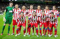 Atletico de Madrid's team photo during La Liga Match. December 01, 2012. (ALTERPHOTOS/Alvaro Hernandez)