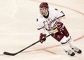 Connor Moore (BC - 7) - The visiting Boston University Terriers defeated the Boston College Eagles 3-0 on Monday, January 16, 2017, at Kelley Rink in Conte Forum in Chestnut Hill, Massachusetts.