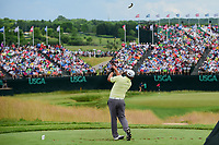 J.B. Holmes (USA) watches his tee shot on 9 during Saturday's round 3 of the 117th U.S. Open, at Erin Hills, Erin, Wisconsin. 6/17/2017.<br /> Picture: Golffile | Ken Murray<br /> <br /> <br /> All photo usage must carry mandatory copyright credit (&copy; Golffile | Ken Murray)