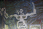 Mosaic image Buzludzha monument former communist party headquarters, Bulgaria, eastern Europe