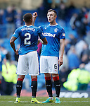 James Tavernier and Danny Wilson having a disagreenent after the final whistle
