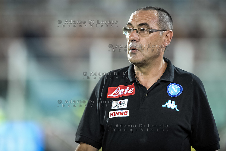 Sarri Maurizio (Pescara) during the Italian Serie A football match Pescara vs SSC Napoli on August 21, 2016, in Pescara, Italy. Photo by Adamo Di Loreto