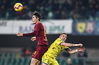 Patrik Schick of AS Roma , Emanuele Giaccherini of AC Chievo Verona <br /> Verona 8-2-2019 Stadio Bentegodi Football Serie A 2018/2019 Chievo Verona - AS Roma <br /> Foto Image Sport / Insidefoto