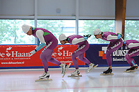 SCHAATSEN: LEEUWARDEN: 21-09-2015, Elfstedenhal, Pim Schipper, Kai Verbij, Thomas Krol, ©foto Martin de Jong