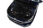 Car Stock 2017 KIA Cadenza Premium 4 Door Sedan Engine  high angle detail view