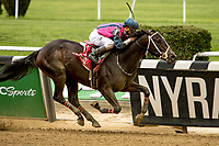 ELMONT, NY - JUNE 08: Our Braintrust, #1, ridden by Javier Castellano, wins the Tremont  during Friday racing action of the Belmont Stakes Festival at Belmont Park on June 8, 2018 in Elmont, New York. (Photo by Sue Kawczynski/Eclipse Sportswire/Getty Images)