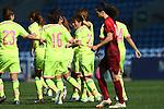 Japan Women's team group (JPN), <br /> MARCH 6, 2015 - Football / Soccer : <br /> Algarve Women's Football Cup 2015 Group C match <br /> between Japan 3-0 Portugal <br /> at Algarve Stadium in Faro, Portugal. <br /> (Photo by YUTAKA/AFLO SPORT)[1040]
