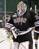 Colin Stevens (Union - 30) - The Union College Dutchmen defeated the Harvard University Crimson 2-0 on Friday, January 13, 2011, at Fenway Park in Boston, Massachusetts.