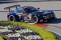 #55 BMW of Bill Auberlen and Andy Priaulx, Long Beach Grand Prix, Long Beach, CA, April 2014.  (Photo by Brian Cleary/ www.bcpix.com )