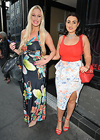 Hayley Palmer and guest at the Lost + Found cocktail bar pop-up launch party, The Den at 100 Wardour Street, Wardour Street, London, England, UK, on Wednesday 06 June 2018.<br /> CAP/CAN<br /> &copy;CAN/Capital Pictures