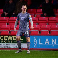 Lincoln City's Anthony Scully<br /> <br /> Photographer Andrew Vaughan/CameraSport<br /> <br /> The EFL Sky Bet League One - Accrington Stanley v Lincoln City - Saturday 15th February 2020 - Crown Ground - Accrington<br /> <br /> World Copyright © 2020 CameraSport. All rights reserved. 43 Linden Ave. Countesthorpe. Leicester. England. LE8 5PG - Tel: +44 (0) 116 277 4147 - admin@camerasport.com - www.camerasport.com