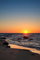 Beach sunset on Moshup Beach, Martha's Vineyard, Massachusetts, USA