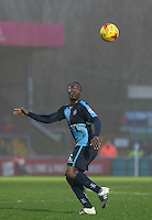 Anthony Stewart of Wycombe Wanderers in action during the Sky Bet League 2 match between Wycombe Wanderers and Morecambe at Adams Park, High Wycombe, England on 2 January 2016. Photo by Andy Rowland / PRiME Media Images